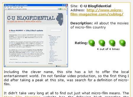 C-U Blogfidential review excerpt :: CUBlogs.com