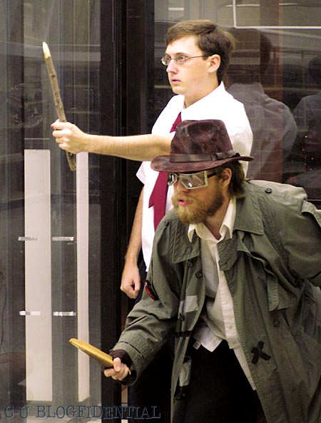 The Transient and Steve hunt for the nefarious vampire Abraham Lincoln ... true story! (Photo by JaPan)